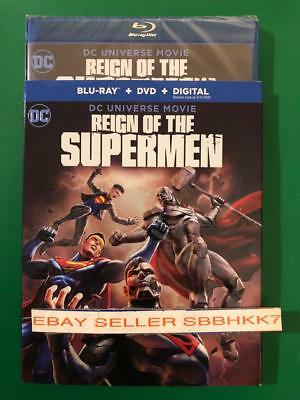 Reign of the Supermen Blu-ray + DVD + Digital & Slipcover New Free Shipping