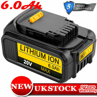 6.0AH 18V/20V XR Li-ion Battery for Dewalt DCD785 DCB182 DCB180 DCF885 DCB200 UK