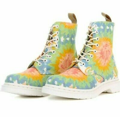 UK 3 4 6 DR MARTENS V POLLEY MTD Women/'s Mandala Tie Dye Canvas Shoes