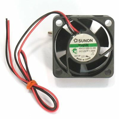 NEW Sunon Maglev Fan,12Vdc, 40mm square x 20mm, MB40201VX (Replace KDE1204PKVX)