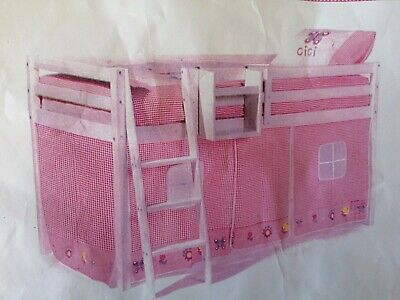 Bunk Bed Or Midi Tent Play Cabin Toy Storage 5 piece pink