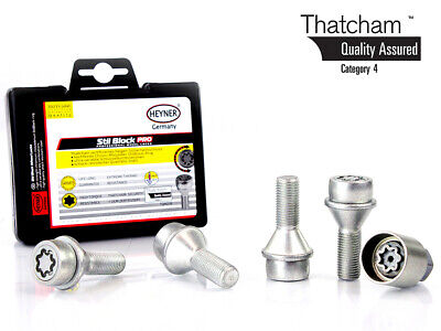 Toyota Proace 2013-on HEYNER wheel locking BOLTS M14x1.5 Thatcham assured