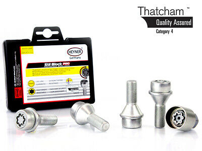Vauxhall Movano Van 2010-on HEYNER wheel locking BOLTS M14x1.5 Thatcham assured