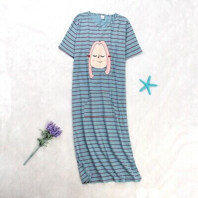 LADIES*FLORAL100/% COTTON JERSEY FLORAL PRINT NIGHTDRESS SIZE 12//26 Ma17909