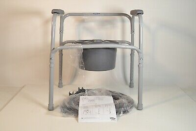 Invacare 9630-1 I-Class All-In-One Commode, Gray  - Preowned