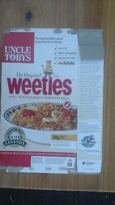Weeties Cereal Box Sydney Olympic Games Shirley Strickland
