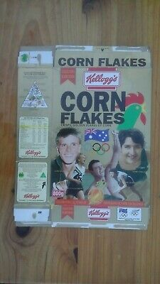 Corn Flakes Cereal Box Sydney Olympic Games Dawn Fraser,Murray Rose.