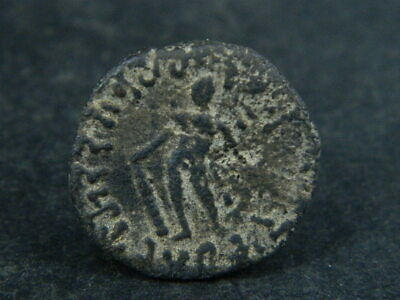 Ancient Bronze Coin Bactrian 100 BC #BR6675