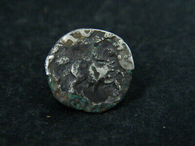 Ancient Silver Debas Coin Bactrian 100 BC #BR6721