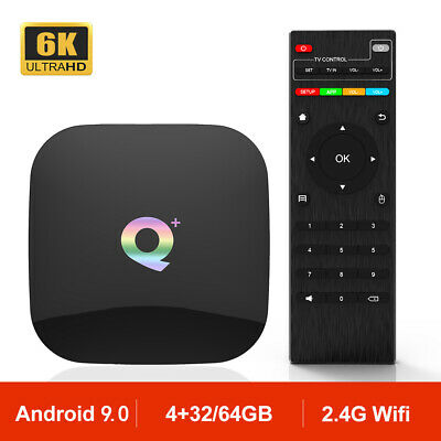Qplus Allwinner H6 Android 9.0 Smart TV Box 6K HD 2.4G Wifi TV Caja Q Plus 4GB