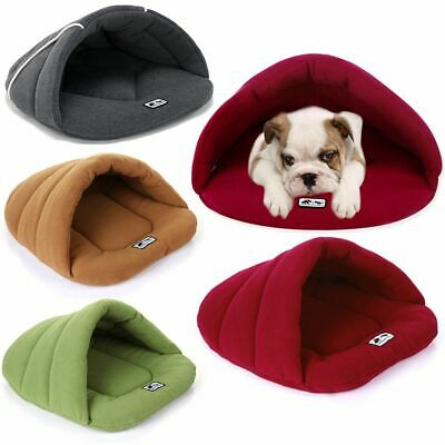 Pet Dog Cave Pad Sleeping Bag Bed Mat Warm Puppy Nest House Soft Cat Bed AU