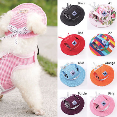 Summer Pet Dog Hat Accessories For Small Dogs Bowknot Mesh Cap CN Utility Handy