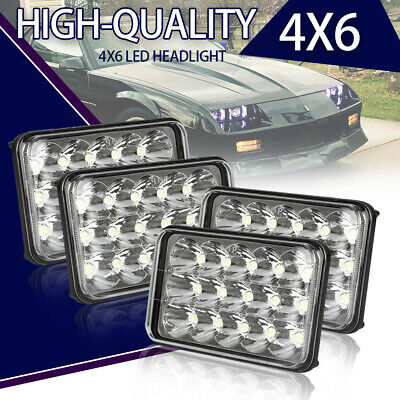 4x 4X6 LED HEADLIGHTS SEALED BEAM For H4651H4652H4656H4666H6545 FREIGHTLINER