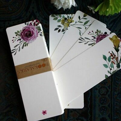 40Pcs/lot Paper Flower Bookmarks Bookmark Book Marker Stationery Vintage Czxy