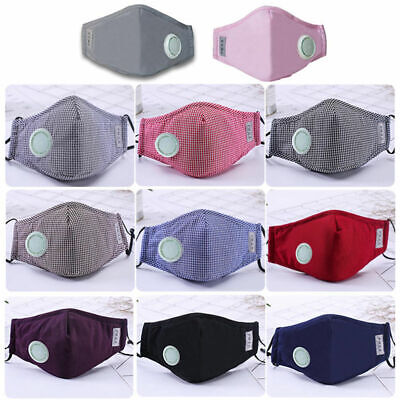 100 Dust Mask Respirator Fold Flat Valved Protective Safety Face Masks Czxy