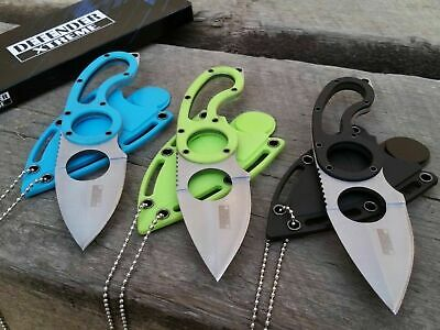 """NEW 3 Pc 7"""" Fixed Spear Point Tactical Survival Neck Knife Set Hunting Survival"""
