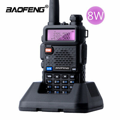 BaoFeng UV-5R Real 8W Walkie Talkie Dual Band VHF/UHF Two-Way Radios transceiver