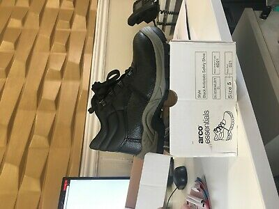 abae1331063 SAFETY BOOTS ARCO Essentials LEATHER - Tan size 8 - £20.00 | PicClick UK