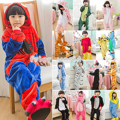 Kids Animal Kigurumi Pajamas Cosplay Onesi1 Sleepwear Costumes Unisex