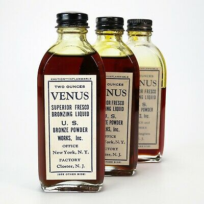 3 x Venus Superior Fresco Bronzing Liquid 2 Oz. 57 ml Bottle Bronze Powder Works