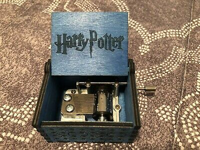 Harry Potter Music Box Engraved Wooden Hand Crank Gift Hand Crafted Brand New