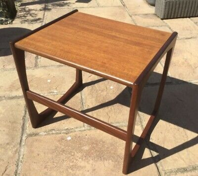 Vintage retro solid teak wooden G Plan-style coffee side table