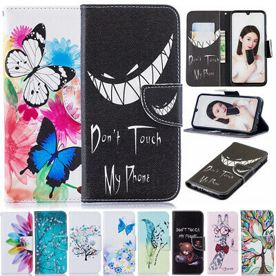 Painted Leather Wallet Flip Case Cover For Huawei P Smart 2019/Honor 10 Lite 8A