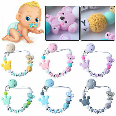 Baby Pacifier Clip Chain Holder Silicone Nipple Leash Strap Pacifier Soother New