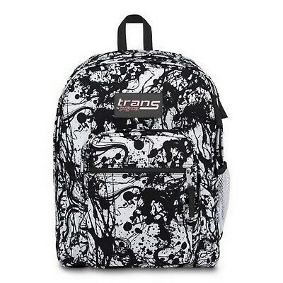 5b15b295d TRANS by JANSPORT SUPERMAX BACK PACK BLACK PAINTBALL JS00TM60 TM600JR
