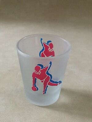 Bowler Bowling Bowl Novelty Shot Glass Frosted Glass