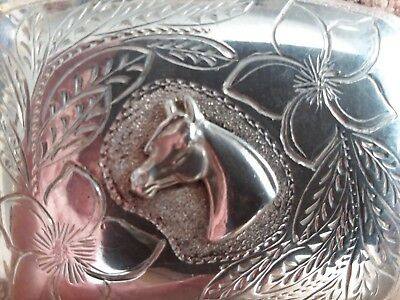 Vintage Sterling Silver Arabian Belt Buckle