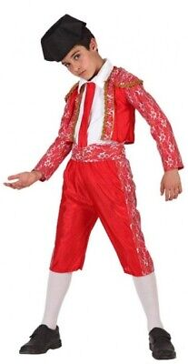 Boys Girls Spanish Matador Bull Fighter World Fancy Dress Costume Outfit 3-12yrs