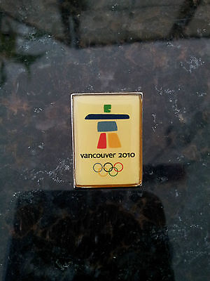 Vancouver 2010 Olympics inukshuk Pin inaugural Bell made in Canada Vanoc