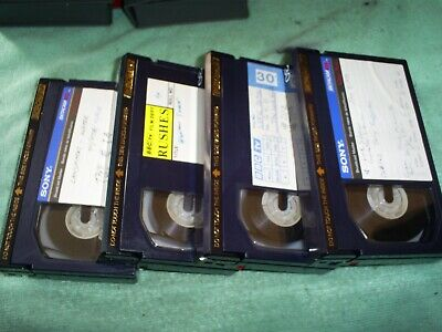 Sony Betacam  Bct-30M Professional Recording Tapes  3 Pieces + 1 Bct-20M