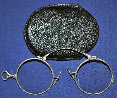 Vintage Sterling Folding Spectacles w/ Case