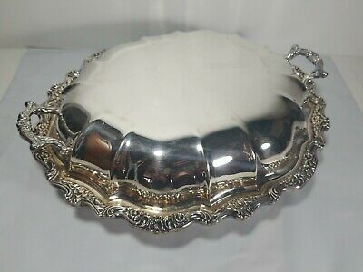International Countess Silver Plate Covered Vegetable Entree Dish Double Handle