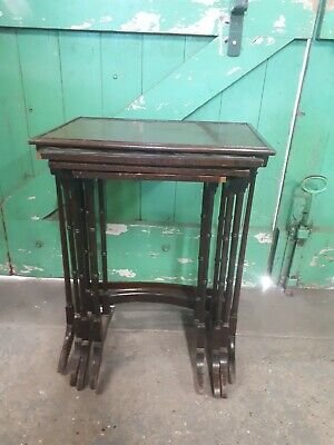 Antique Late Georgian Early Victorian Wooden Nest of Tables x 4 for restoration