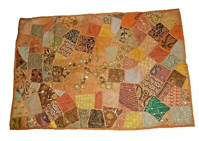 Embroidered Vintage Patchwork Handmade Wall Hanging Tapestry Throw Runner Mat W9