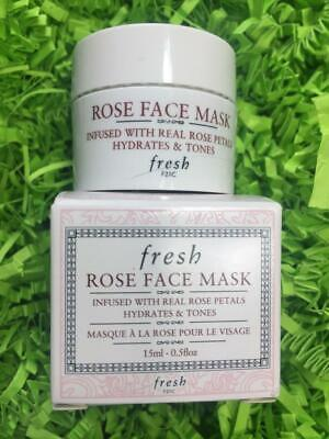 FRESH Rose Face Mask .5oz/15mL Deluxe Travel Size - NEW in Box, FREE SHIP!