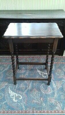 Victorian Barley Twist Side Table Arts and Crafts Ocassional Table