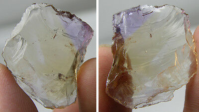 19.80Ct Brazil 100% Natural Raw Rough Uncut Ametrine Crystal For Facet 29mm