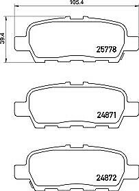 REAL IMAGE OF THE PARTS BRAND NEW MINTEX REAR BRAKE PADS SET MDB3396