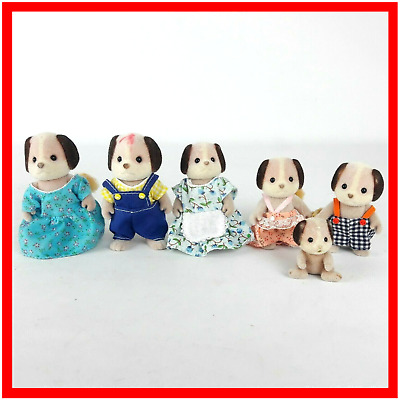 Sylvanian Families Vintage Beagle Dog Family Epoch Calico Critters Dressed