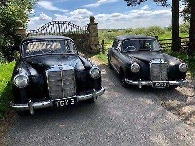 1956 Mercedes 220S BARN FIND valuable numberplate TGY 3 restoration project