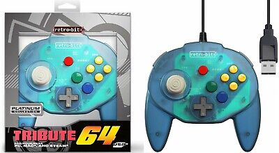 INNEXT CLASSIC RETRO N64 Joystick USB Wired Controller Gamepad For