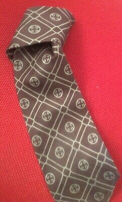 1972 Retro Vintage Designer Hardy Amies Pure Silk Brown Tie