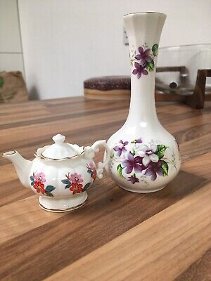 Healacraft English Fine Bone China Vase & Teapot