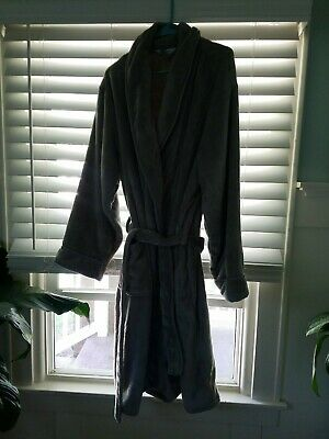 cheap for sale for sale best prices WAMSUTTA - LARGE/X-LARGE Plush Bath Robe - Gray Grey Very ...