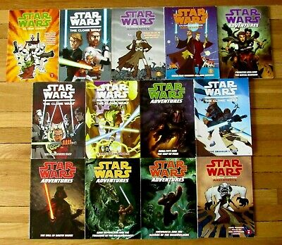 Lot 13 STAR WARS & CLONE WARS ADVENTURES TPB Dark Horse Graphic Novels L1
