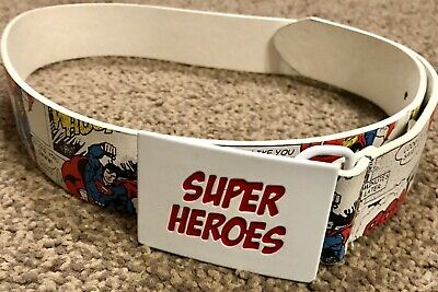 Children's Belt Boys Belt DC Comics Superhero Superman Comic Strip Belt One Size